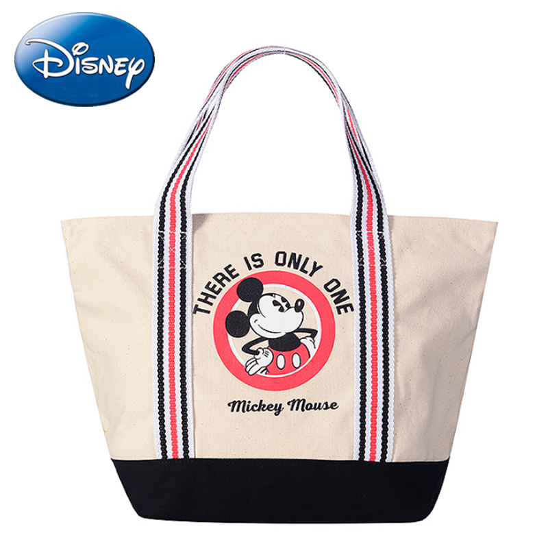 Disney 2019 New Mickey Women ShoulderBag Girl Casual Totes-Handbag  Daily Shopping Purpose Messenger High Quality Crossbody
