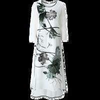 Летняя Новинка 2018 г. женские платья вышитые органзы шелковое платье женские длинные свободные платье старинные половины рукав o образным вы