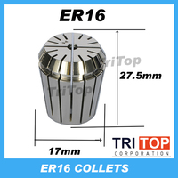 High Precision ER16 Accuracy 0 005mm Spring Collet Set For CNC Milling Machine Engraving Lathe Tool
