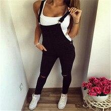Повседневная hirigin женщин мешковатые джинсы комбинезон полной длины сарафан Комбинезон Боди комбинезон, штаны