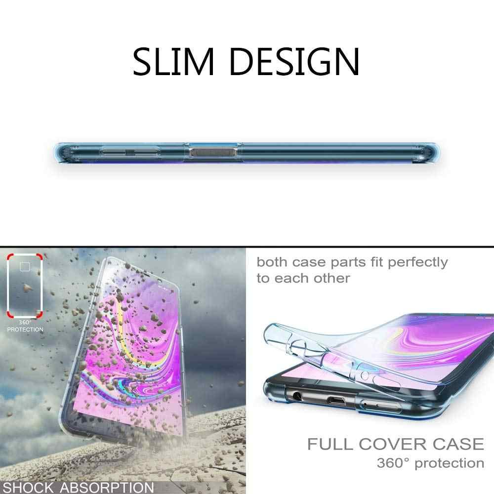 SUYACS 360 กรณีโทรศัพท์ป้องกันร่างกายเต็มรูปแบบสำหรับ Samsung Galaxy S10 PLUS S10e A30 A40 A50 M30 M40 Soft TPU กลับ SHELL ของขวัญ