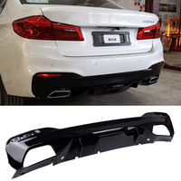 M P Style PP material Bumper Bright black Rear Diffuser For BMW 5 Series G30 G38 525i 530i 540d