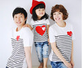 Heart Family Matching Clothing Soft Cotton Shirt Matching Mother Daughter Clothes Family Look Style Father Mother Son AF-1727