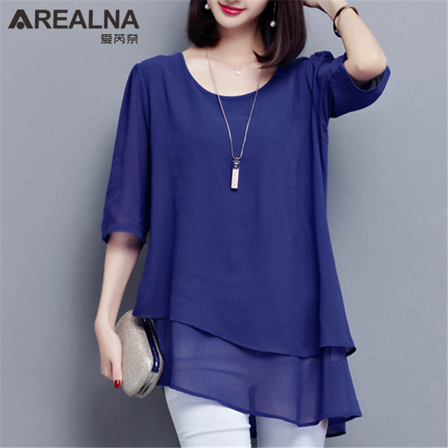 Vintage Chiffon Blouse Women Black Blusas Mujer De Moda 2020 Summer Korean Style 5XL Plus Size Tunic Tops Aesthetic Long ShirtsBlouses & Shirts