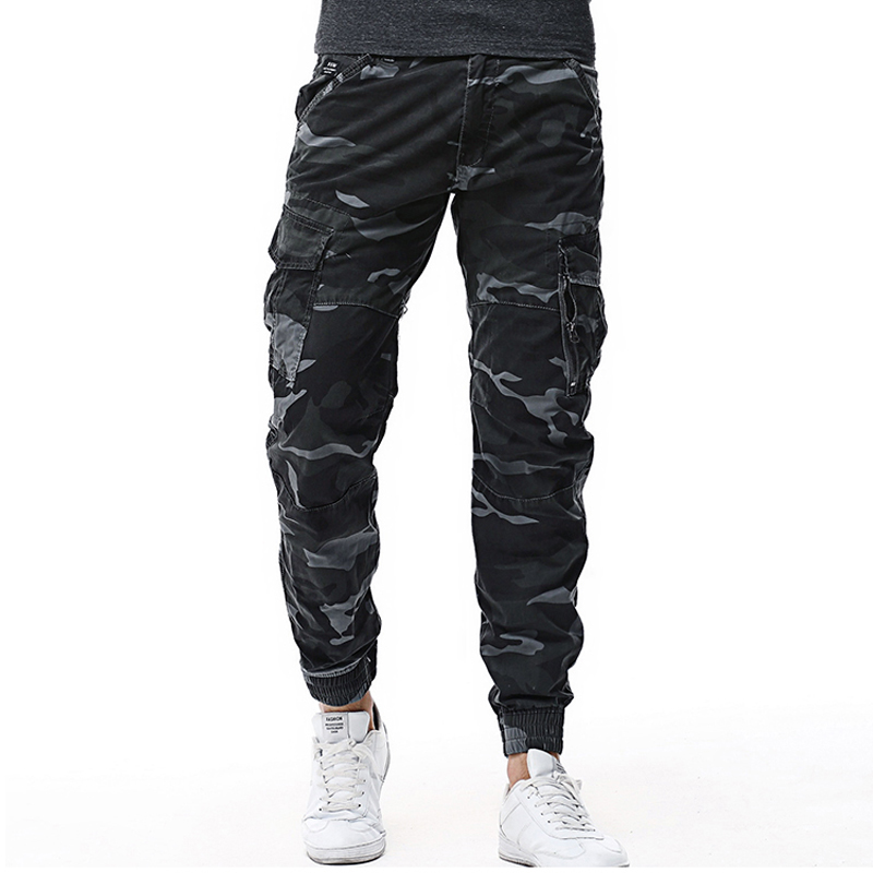 Drop Shipping 2020 New Arrivals Fashion Men Cargo Pants Multi Pockets Military Overalls Men Long Trousers XP46