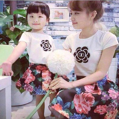 a0397eb5e Matching family outfits clothing mother mom girl daughter set mommy and me baby  clothes floral shirt/top+ruffle tutu skirt