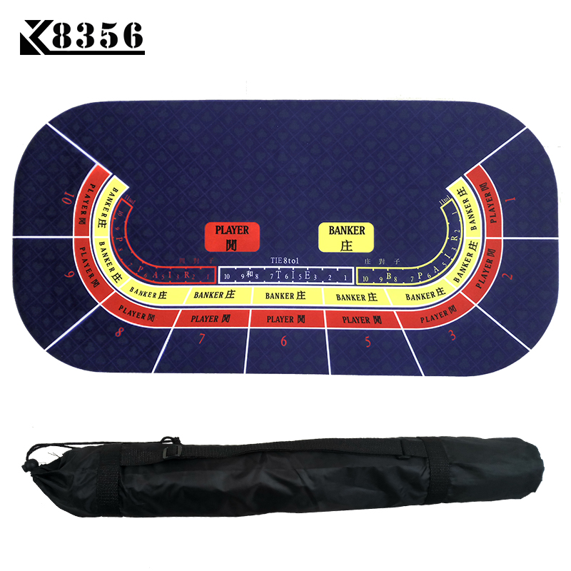 K8356 120*60cm Texas Hold'em Suede Rubber Baccarat 10 people Table Cloth Poker Table Mat Tablecloth Waterproof Table Game Mat new baccarat texas hold em plastic playing cards waterproof frosting poker card pokerstar board game 2 48 3 46 inch k8356