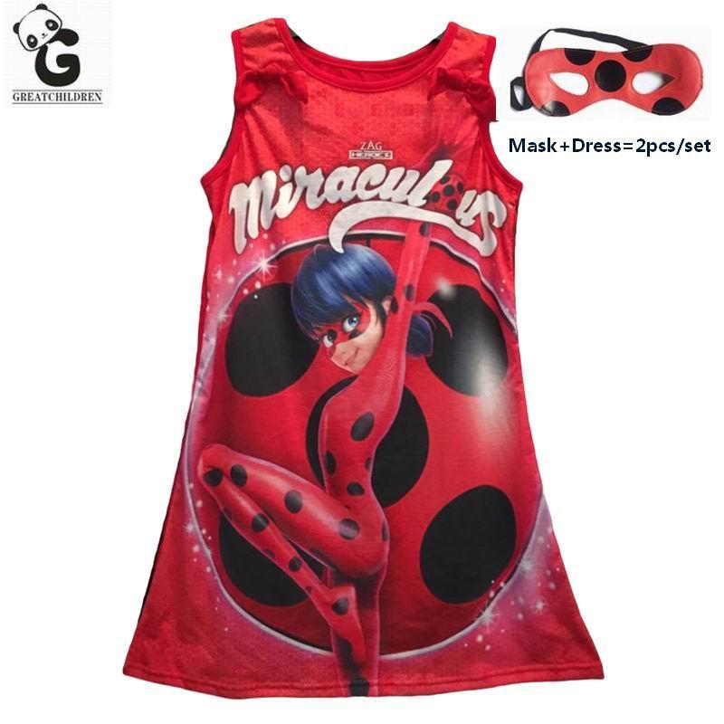 Miraculous Ladybug Girls Dress Kids Party Dress For Girls Brand Princess Dresses Cosplay Costumes Halloween Christmas Marinette