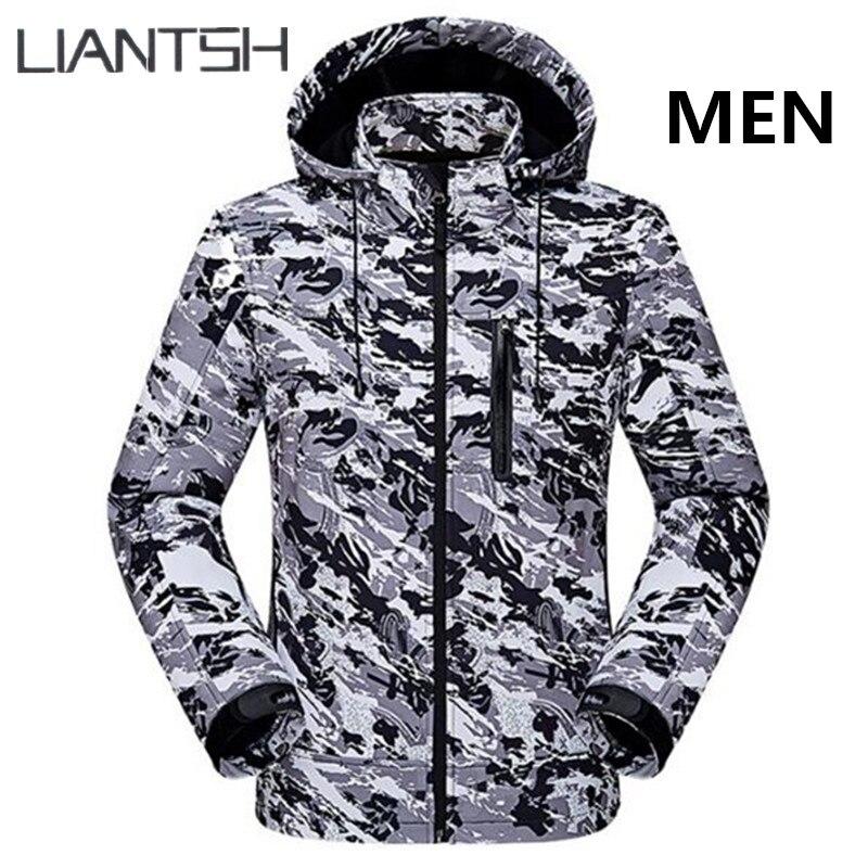 Tactique militaire coupe-vent imperméable Softshell vestes hommes, Camping chasse pêche hiver chaud femmes en plein air randonnée vestes