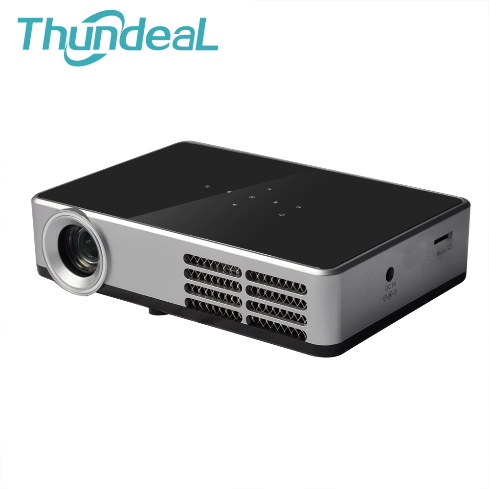 Thundeal 3d mini dlp projector dlp600w android wifi bluetooth 500 ansi lumen digital proyector for Small bluetooth projector