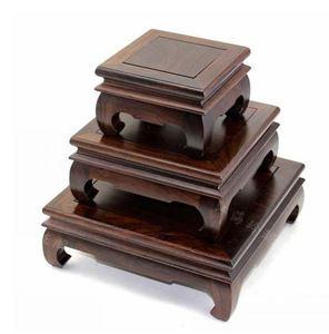 Black Catalpa wood base potted plant pedestal wood decoration traditional china