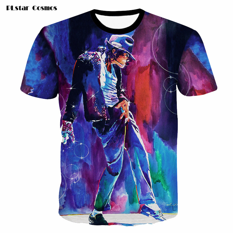 2018 3D T-shirt for Men/Women Short-sleeve Round Neck Summer T-shirts Homme Michael Jackson Dancing Printed t shirt Streetwear