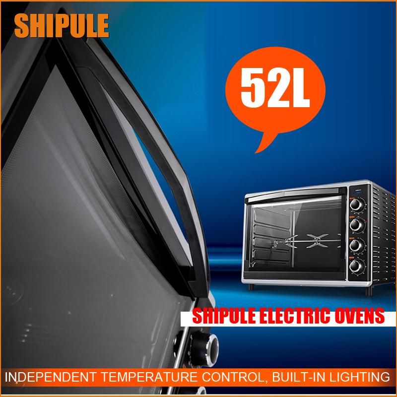 SHIPULE 52L Multifunctional electric oven for the house, for the preparation of cakes, bread Baking Cakes Pizza Chickens baking school the bread ahead cookbook