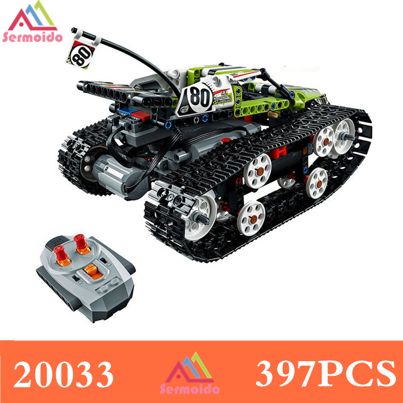Decool Technic Series The RC Track Remote-control Race Car Set Building Blocks Bricks Educational Lovely Gifts Toys 42065 B241
