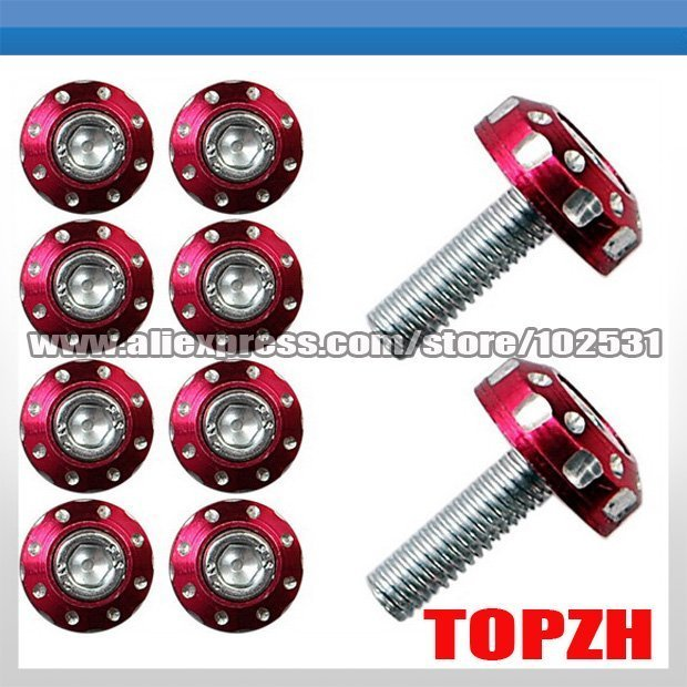 Motorcycle Windscreen Fairing Decoration Screws Bolts Motorcycle Accessories Red TA027
