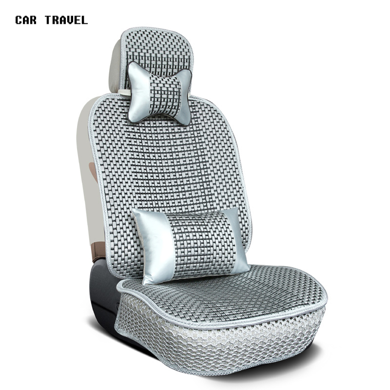 Brand New styling Luxury Ice silk Car Seat Covers 1pc front Complete Set for Universal Seat Car Four Season Auto Accessories brand new styling luxury ice silk car seat covers 1pc front complete set for universal seat car four season auto accessories