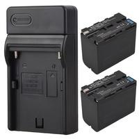 High Capacity 2x 7800mAh NP F970 NP F960 NP F970 NP F960 Digital Camera Battery USB