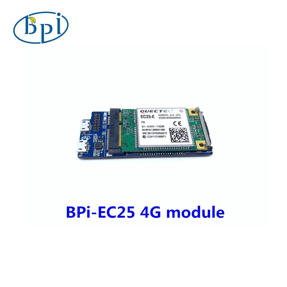 Banana PIEC25 E 4G module only applies to Banana PI R2 board at present