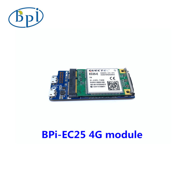 Banana PIEC25-E 4G módulo, só se aplica para a Banana PI R2 bordo no momento