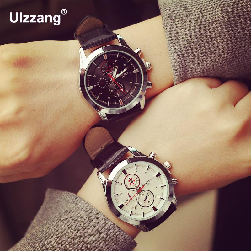 Luxury Dress 3 Eyes Silver Steel Genuine Leather Quartz Business Watch Wristwatches Clock Gift for Men Male 1 Year Warrenty