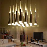 Creative Meteor shower Luxury Drop Long LED Pendant Lamp Modern Hanging Light Fixture For Kitchen Stairs Foyer Home Lighting