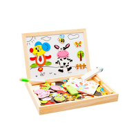 Baby Learning Educational Wooden Toys Puzzle Jigsaw Board Zodiac Animal Whiteboard Matching Enlightenment Kids Gifts 4047