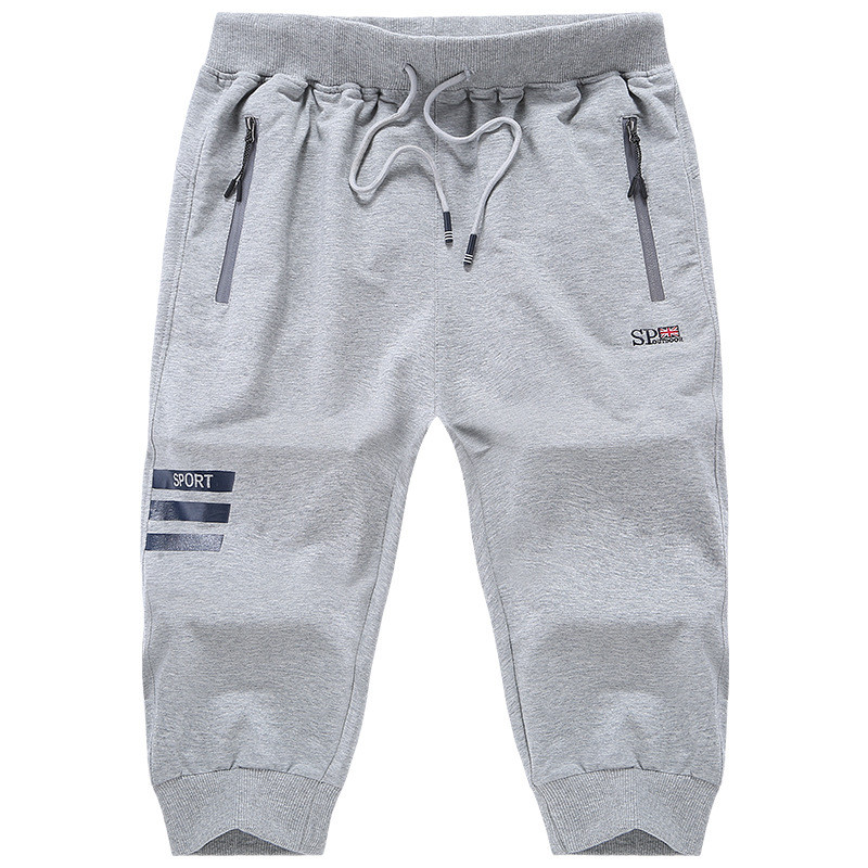 Summer Large Size L 8XL Male Shorts Fashion Style Baggy Sweatpant Elastic Band Capris Short For