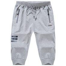 Лето Большой Размеры L-8XL мужской Шорты модные Стиль мешковатые Sweatpant Эластичная лента Капри короткие для человека уличной хип-хоп Shortpants