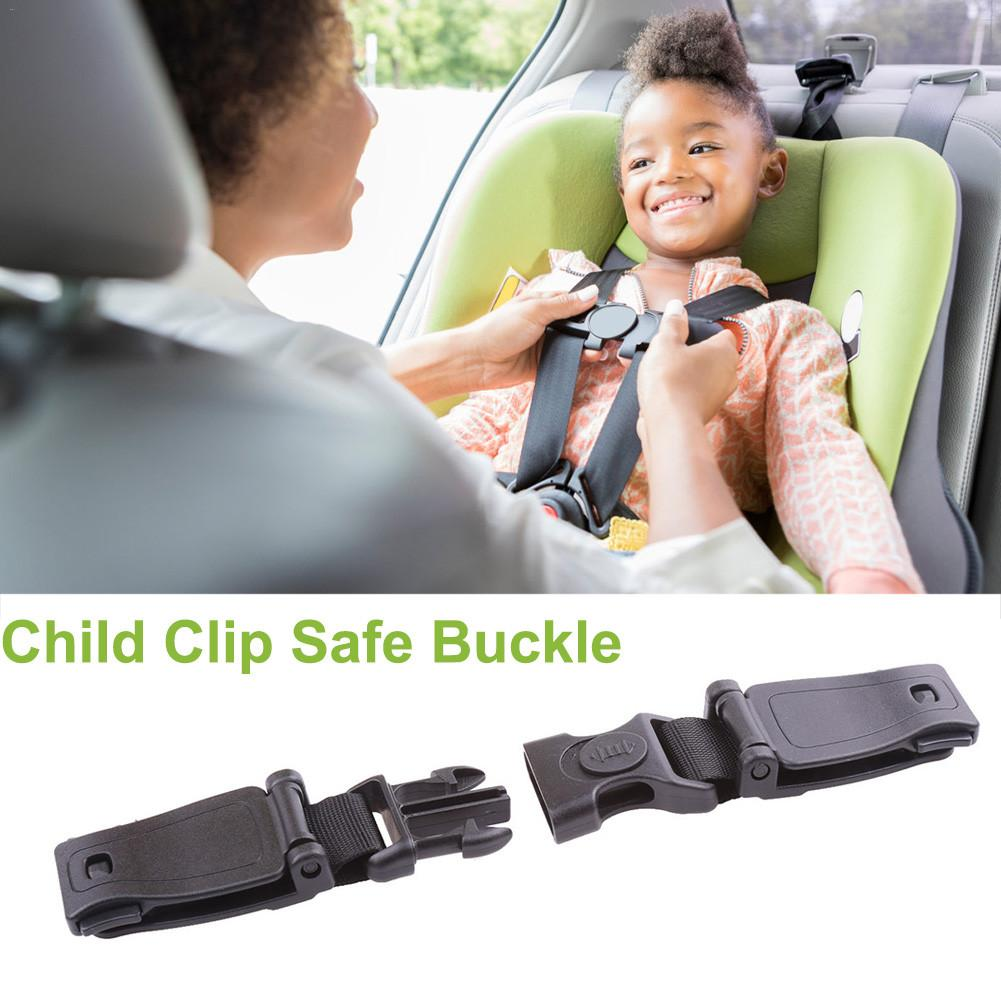 Durable Black Car Baby Safety Seat Strap Belt Harness Chest Clip Safe Buckle for Kids Children Accessories