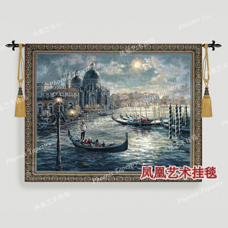 The scenery of Venice nautical wall hanging tapestry Cotton Home textile 104 134cm Tapiz Tapisserie Arazzo