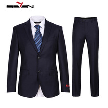 Seven7 Brand Wool Wedding Suits Men's Formal Suit Blazer Men High Quality Flat Collar Comfort Suit Grace Suits Sets 608C13530