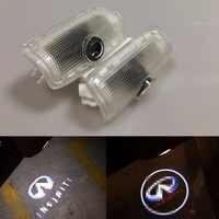 2X ha condotto la luce di Portello Dell'automobile Per Infiniti Q50 FX35 FX37 F50 G37 Q60 EX25 EX35 37 G35 M35 lampada del proiettore luce di marchio di benvenuto Car styling