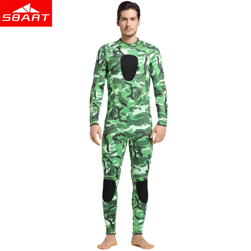 SBART 2017 Neoprene Men Scuba Diving Suit 3mm Keep Warm Wetsuit Anti-Jellyfish Snorkeling Kite Surfing Spearfishing Swimwear I sbart 2017 3mm neoprene full body wetsuit women winter warm long sleeve surfing diving suit anti uv diving swimming suit