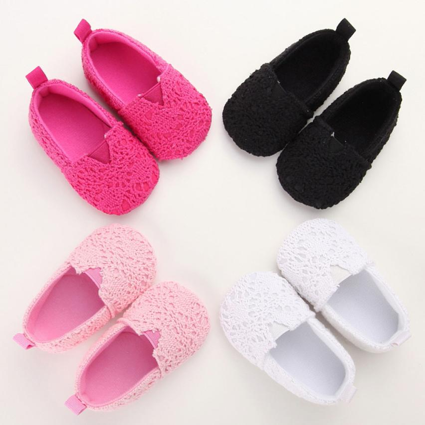 2017 Baby Infant Kids Girl Soft Sole Crib Toddler Newborn Shoes BTTF