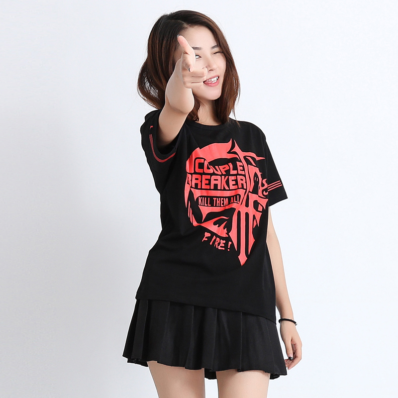 Unisex Daily Top Baka to Test to Shoukanjuu Fukanzenna ketsumatsu Cosplay T Shirt Unisex Tee Top Anime Cosplay Costumes
