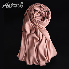 [AETRENDS] 2017 Winter Brand Scarves Women Cashmere Feel Scarf 16 Colors for Choice Z-3983()