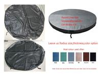 spa cover skin only round 190cm dia, 10cm thickness vinyl Customized any size, shape, swim spa cover leather