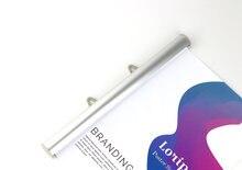 120 см алюминиевый полуоткрытый плакат баннер рукоятка логотип