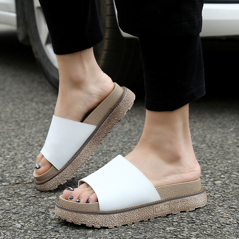 In Summer,New Styles Of English Wear A Sweet, And Comfortable Rome Lady's Comfortable Sandals. Female slippers 6.15