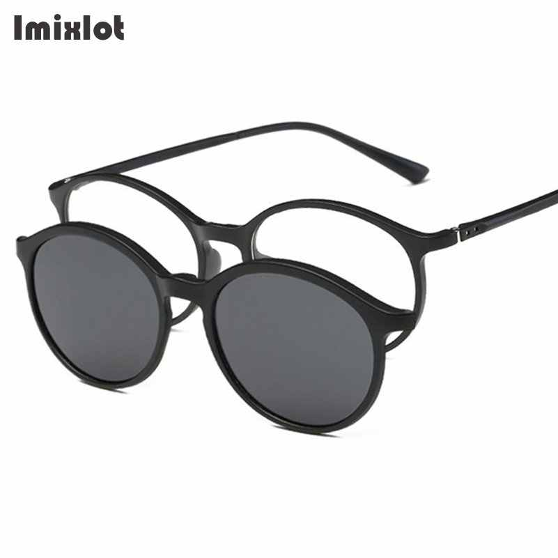 f4a0c5c3e7 Imixlot 2 In 1 Polarized Clip on Sunglasses Men Women TR90 Frame Magnetic  Glasses For Male