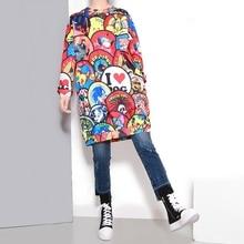 Tracksuits Hot Sale O-neck 2016 New Winter Long Sweatshi Size Loose Slim Female Dress Zichao Cartoon Stamp Sweatshirt For Women
