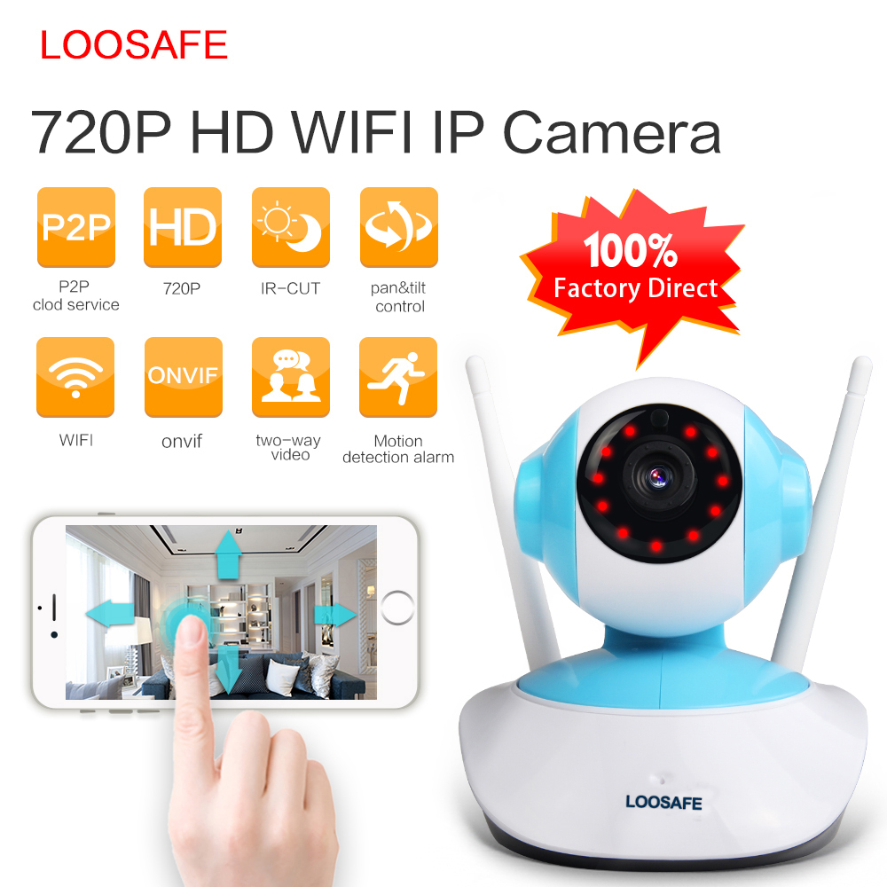 loosafe 720p hd ip camera wifi wireless onvif camera security home video surveillance 1mp. Black Bedroom Furniture Sets. Home Design Ideas