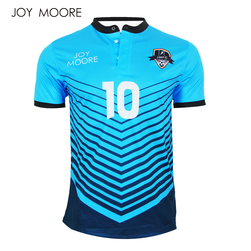 1ec9fed1ba1 Men Soccer Jerseys Polyester polo Collar sublimated custom football shirt