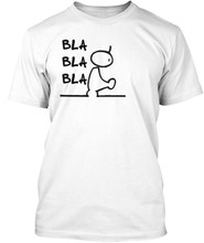 Bla bla T-shirt Grappig April Fools Day Werk Joke Gift Present t-shirt dames crewneck casual t-shirts Vrouwen grappige grunge top tees(China)