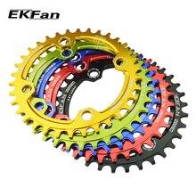 EKFan круглая форма 32 T/34 T/36 T 104BCD MTB цепь 7075-T6 велосипедная Звездочка велосипед круг коленчатый набор одна пластина