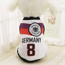 Dog Clothes World Cup Pets Soccer Jersey