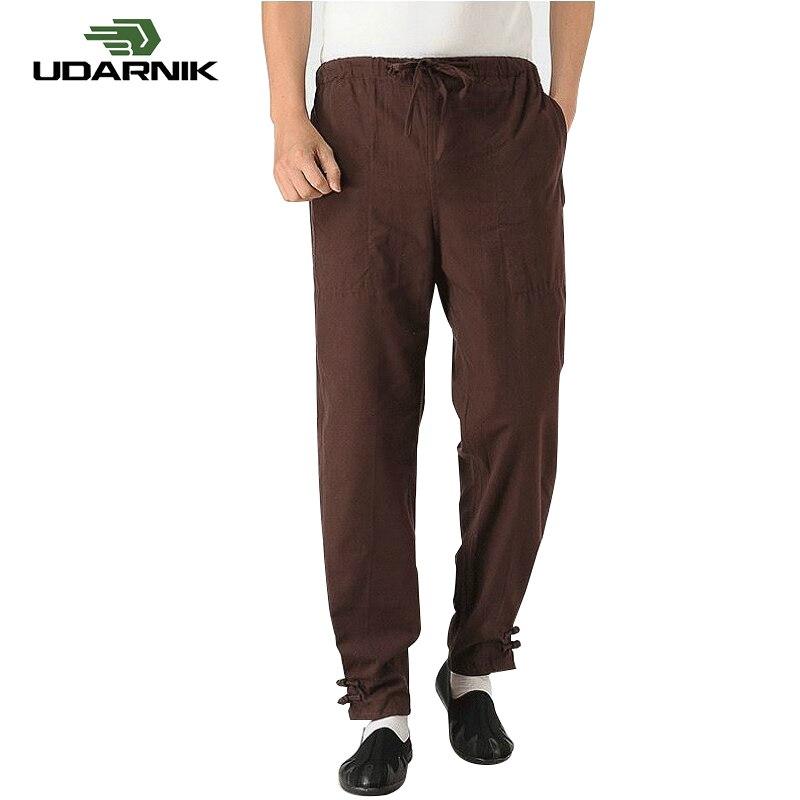 Pants Trousers Solid Color Gym Martial Arts Fit Vintage Cotton Kung Fu Retro