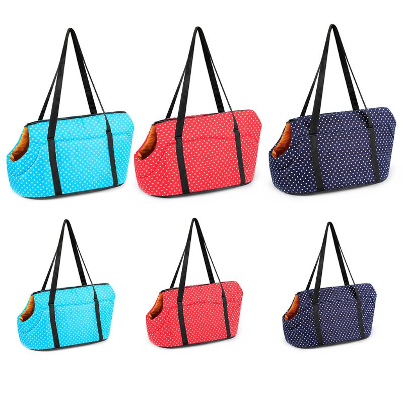 Pet Dog Dot Print Carrier Sling Winter Warm Cat Bag Outdoor Travel Shoulder Bag For Chihuahua S/LPet Dog Dot Print Carrier Sling Winter Warm Cat Bag Outdoor Travel Shoulder Bag For Chihuahua S/L