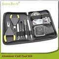 E Cigarette Vapor RBA Atomizer Coil Jig Tool DIY Kit with Voltage Ohm Tester,Kanthal Wire,Silica Cotton for RTA & RDA Jomo-36