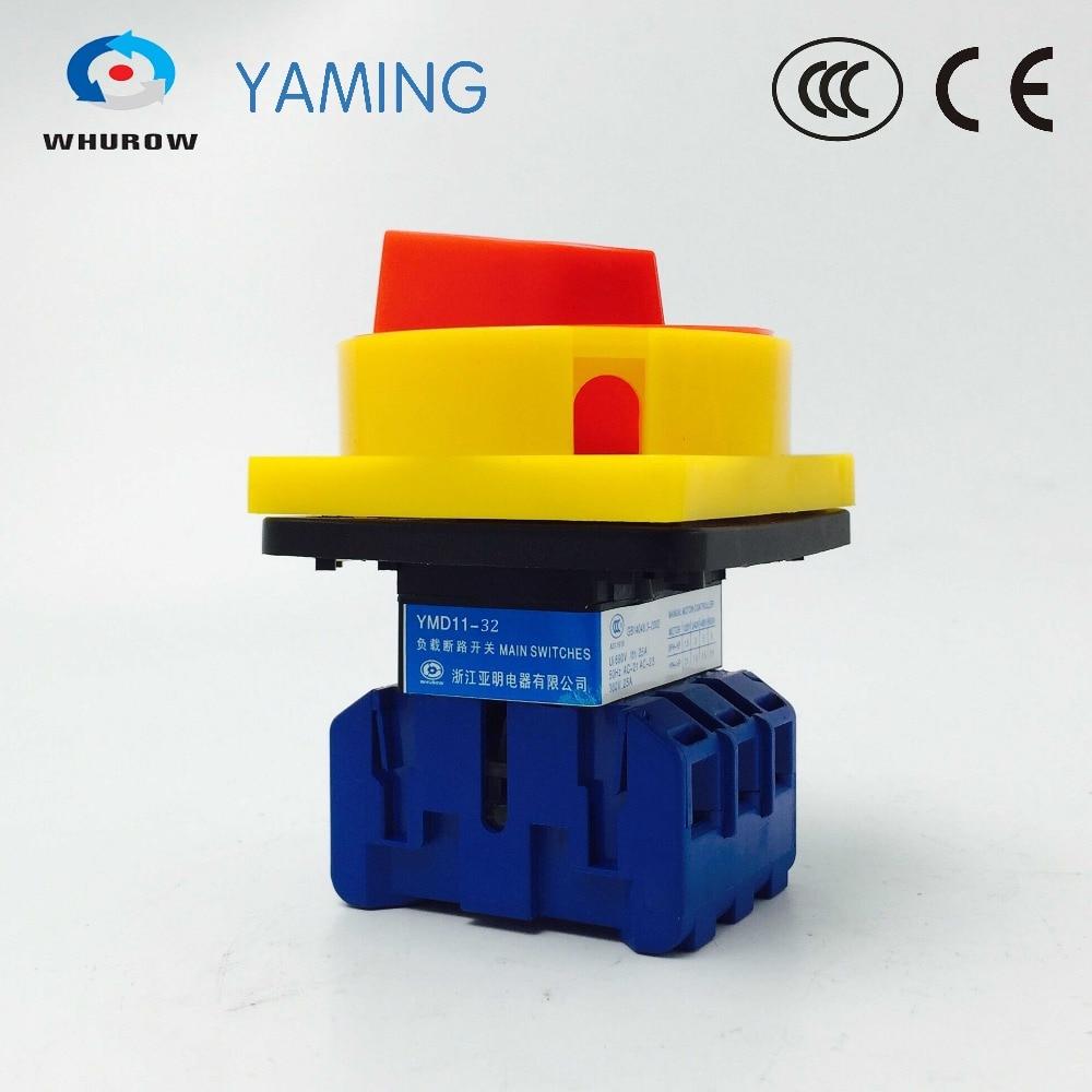 YMD11-32A 3P 690V ВКЛ-ВЫКЛ, выключатель изолятора с блокировкой pad, поворотный кулачковый отсоединительный выключатель, высокое напряжение управле...